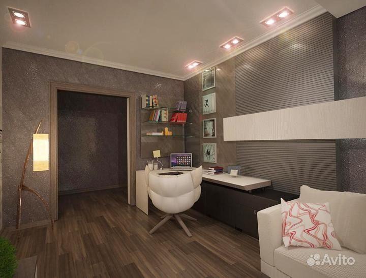 Дизайн интерьера трехкомнатной квартиры 73 кв. М