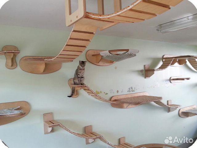 Игровые комплексы для кошек своими руками с чертежами