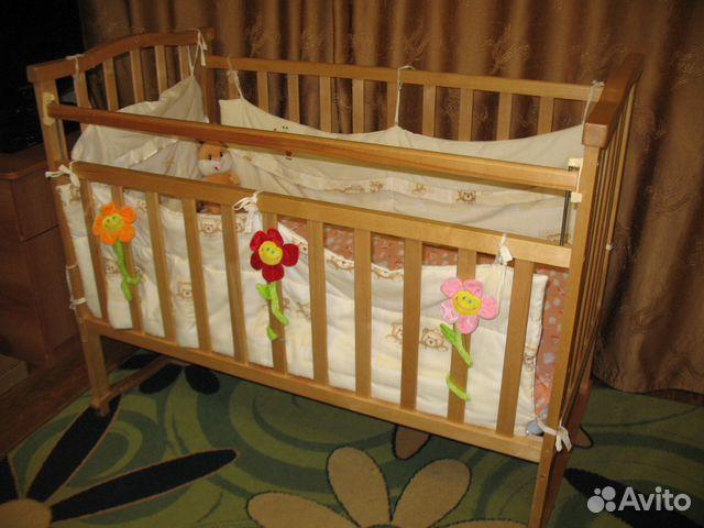 Детскую кроватку бу