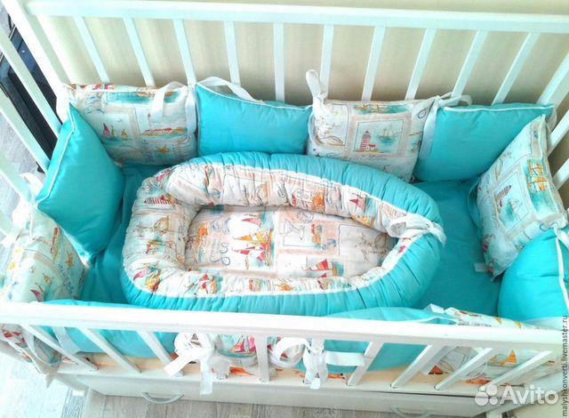 Бортики подушки в кроватку для новорожденных своими руками выкройки