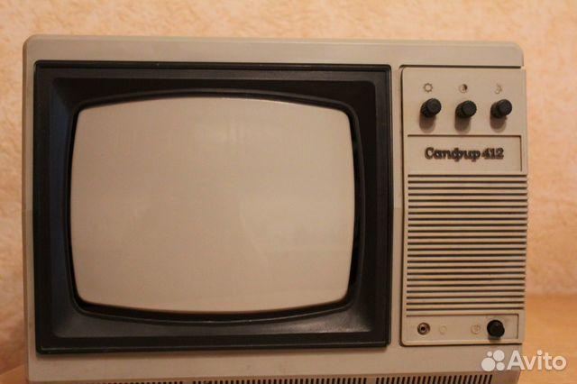 Телевизор черно-белый Сапфир 412 Д.