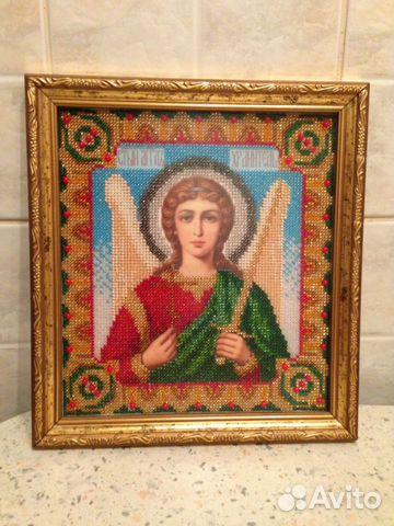 Икона из бисера Ангел-хранитель.