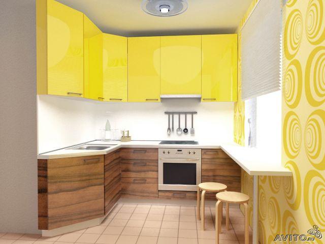 Маленькие кухни дизайн брежневка