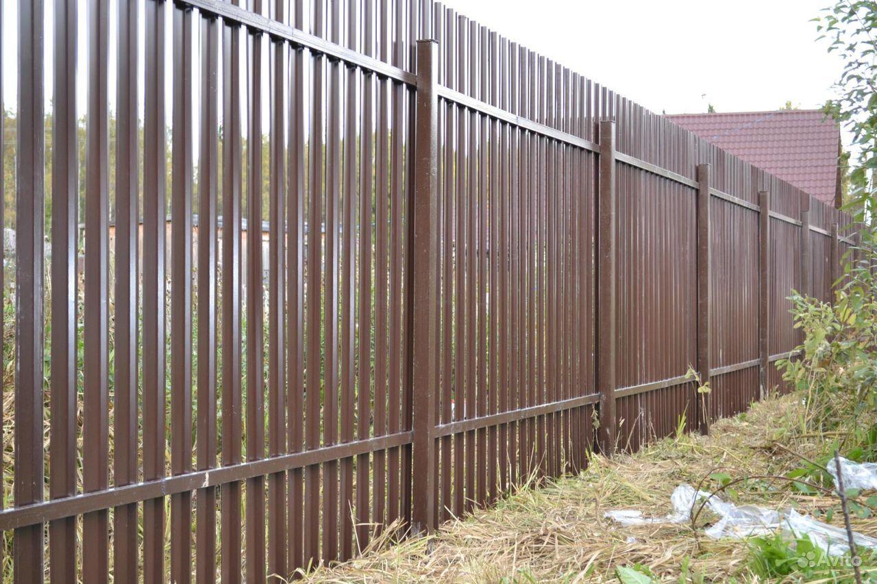 Забор из Профлиста, Евроштакетник под ключ купить на Вуёк.ру - фотография № 6