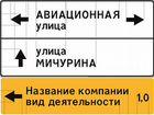 Сеть дорожных знаков с рекламными местами г.Волхов