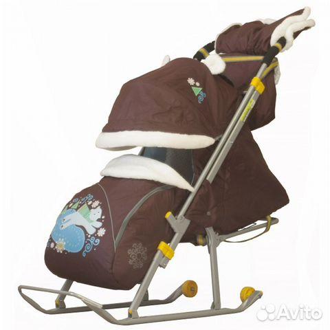 Санки коляска ника детям 6