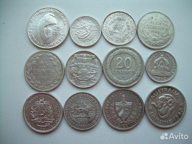 Иностранные монеты серебро металлоискатель титан