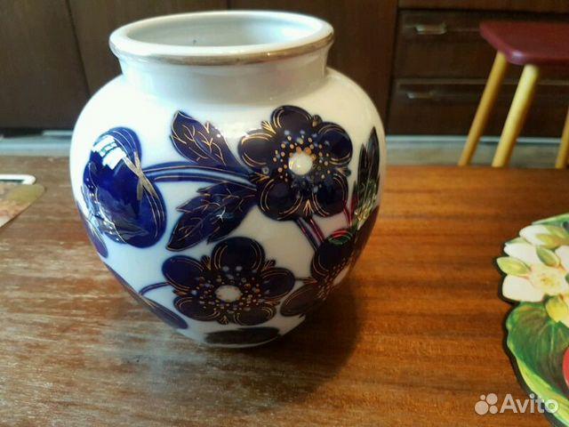 Лфз ваза синие цветы