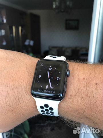 094a173b Спортивный ремешок Nike Apple Watch: зебра   Festima.Ru - Мониторинг ...