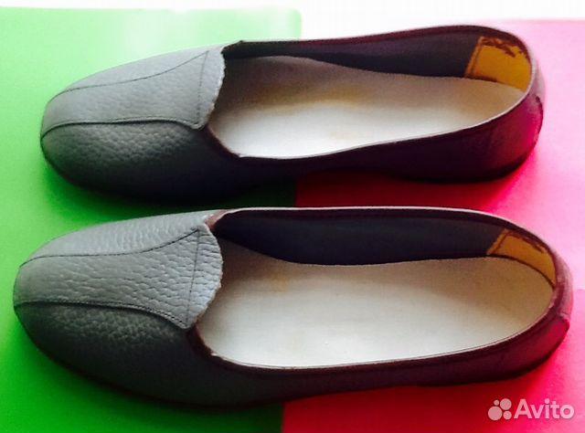 Кожаные туфли-тапочки размер 37 новые  7eddab5cef132
