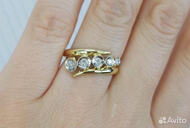 Золотое кольцо с бриллиантами купить в Москве на Avito — Объявления ... f8ce24fc9fa
