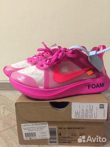 d05b110f Кроссовки Nike x Off-white zoom fly pink | Festima.Ru - Мониторинг ...