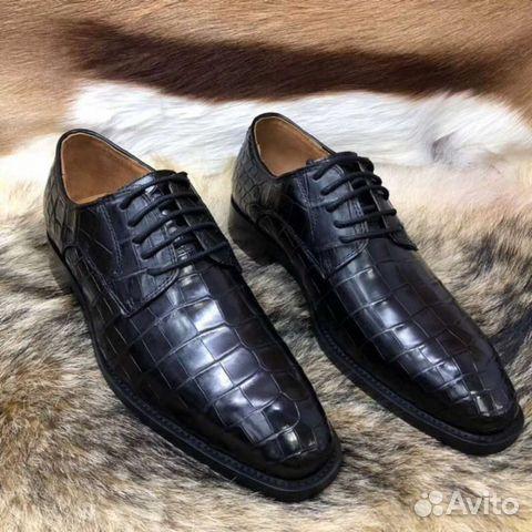 Туфли мужские, из кожи крокодила, чёрный цвет   Festima.Ru ... 055775602a8