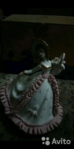 89061656450 Фарфоровая статуэтка музыкальная