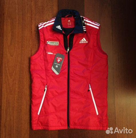 a283bb8c Теплая жилетка безрукавка adidas Сборной Канады купить в Москве на ...