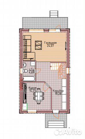 Коттедж 120 м² на участке 10 сот. 88002226041 купить 3
