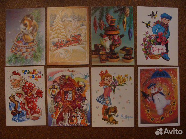 Смех девушки, фото открытки 80-90 годов фото
