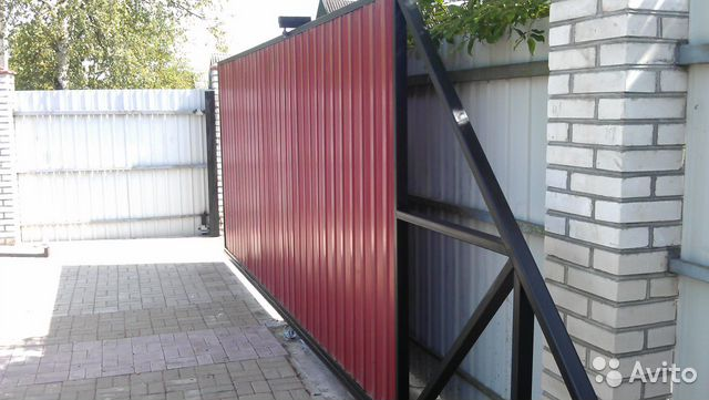 Заказать откатные ворота в спб ворота во двор частного дома с калиткой фото