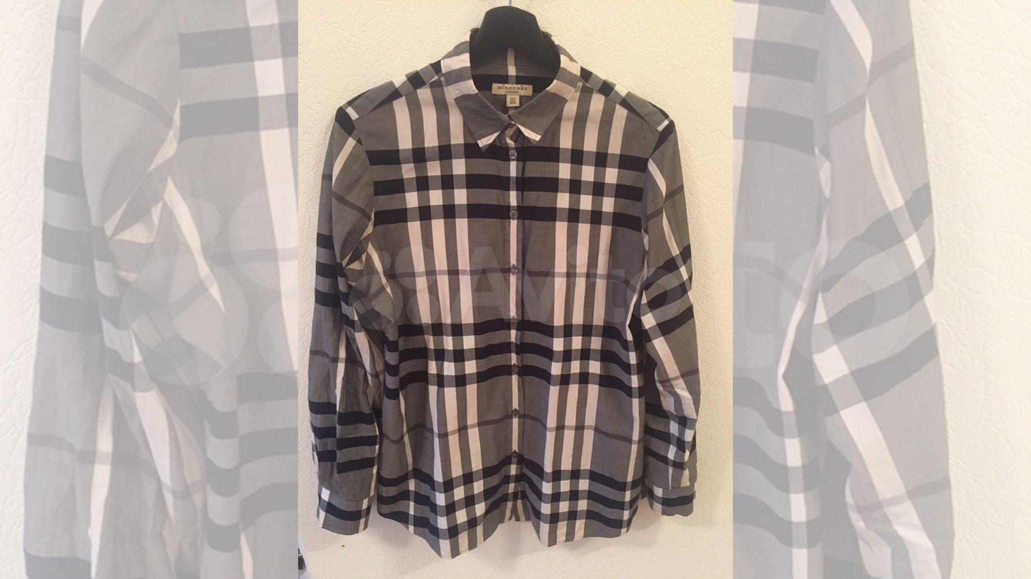 33833cd4cf61 Рубашка в клетку Burberry london оригинал купить в Санкт-Петербурге на Avito  — Объявления на сайте Авито
