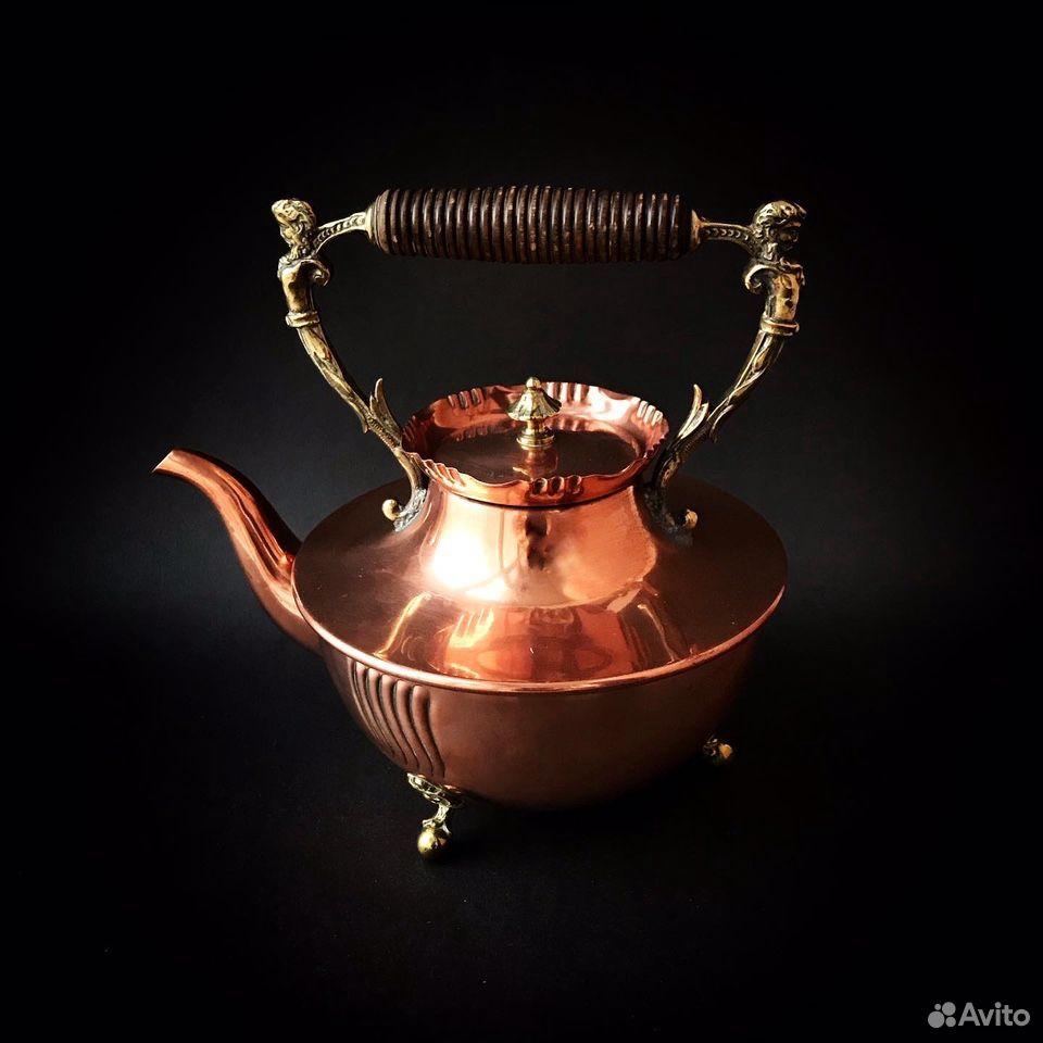 Чайник антикварный, 19 в, Германия  89064688820 купить 2