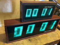 Часы Электроника настенные ламповые