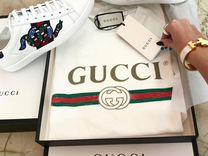 Футболка Gucci 2019 Logo с коробкой и упаковкой