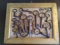 Коллекция старинных замков и ключей