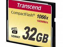 Карта CF Compact Flash Transcend 32 gb (1000x)