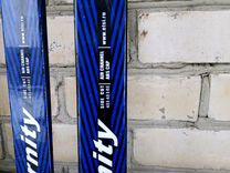 Лыжи 1,40., ботинки 32разм