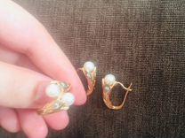 Комплект бриллиант и жемчуг