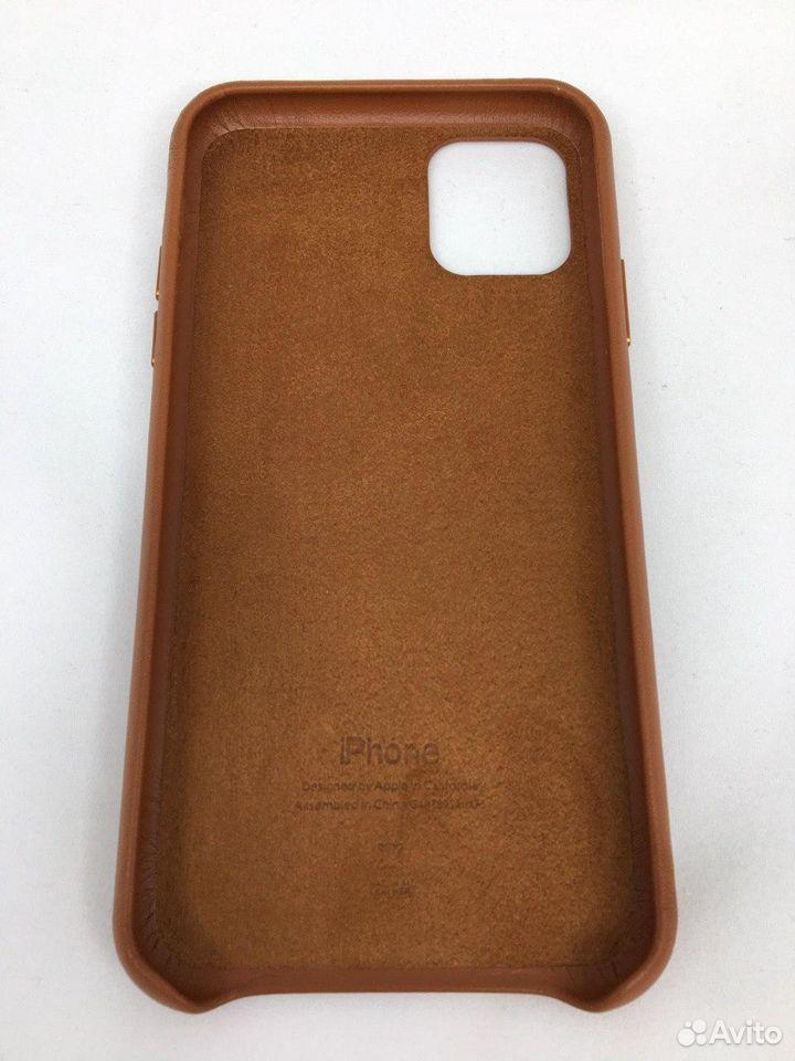 Кожаный чехол Leather Case Apple iPhone 11 Brown  89112002770 купить 3