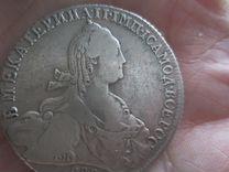 1 рубль Екатерина II 1774 Т.И спб О Л Оригинал