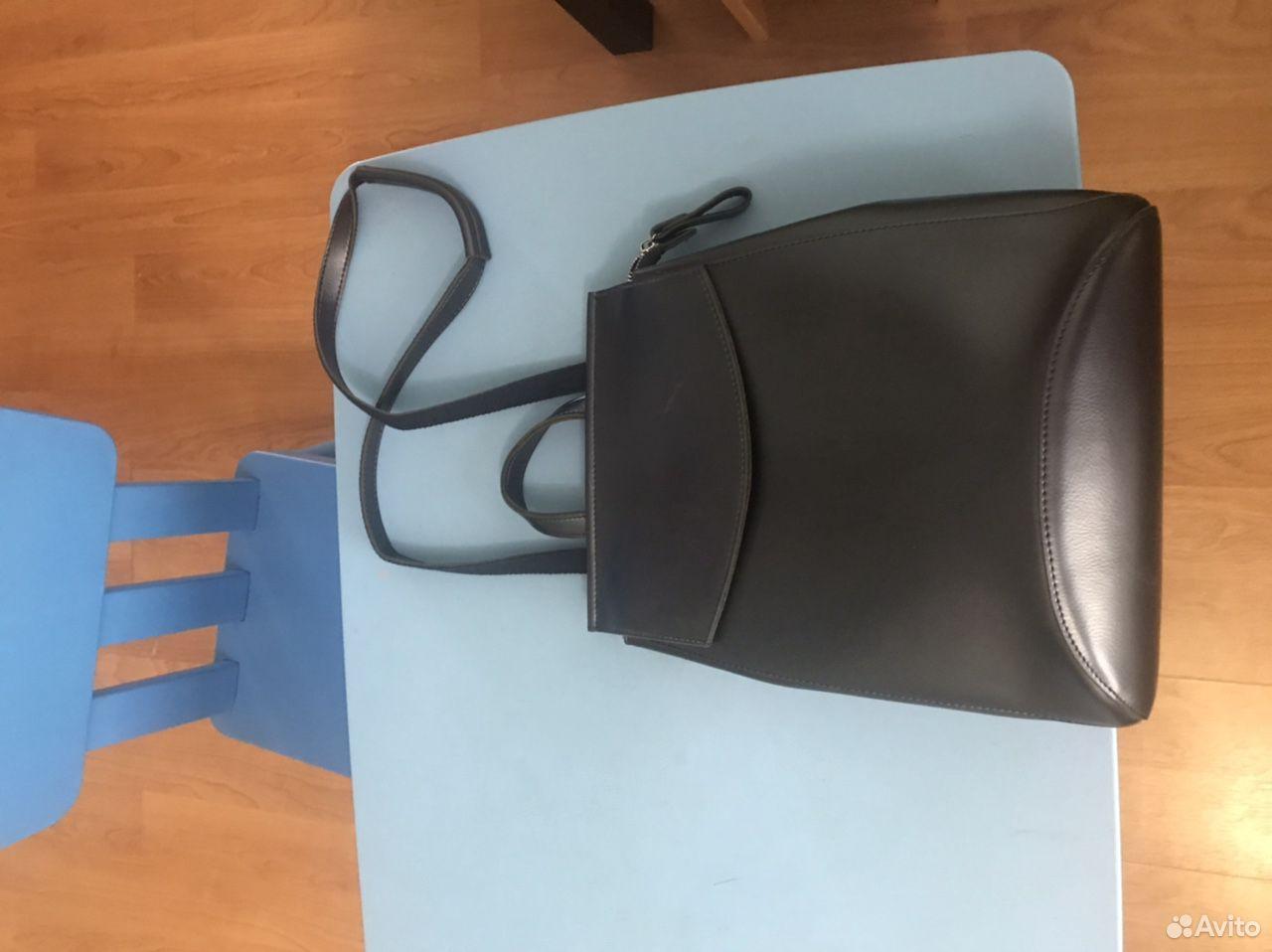 Рюкзак кожаный синий  89289050575 купить 2