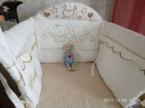 Милые бортики для детской кроватки