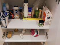 Тумба для ванной +новый смеситель+зеркало